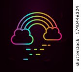 rainbow cloud nolan icon simple ...