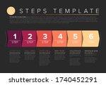 vector progress six steps... | Shutterstock .eps vector #1740452291