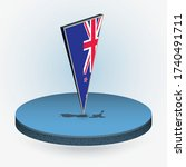 new zealand map in round... | Shutterstock .eps vector #1740491711