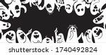 monochrome ghost apparition... | Shutterstock .eps vector #1740492824