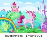 illustration of a wonderful... | Shutterstock .eps vector #174049301