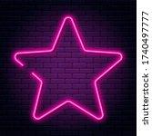 neon sign in star shape. bright ... | Shutterstock .eps vector #1740497777