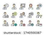 business people related color... | Shutterstock .eps vector #1740500387