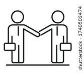 businessmen collaboration icon. ... | Shutterstock .eps vector #1740503474