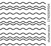 wavy lines. seamless texture... | Shutterstock .eps vector #1740509504