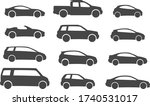 set of car types on a white... | Shutterstock .eps vector #1740531017