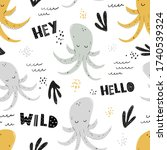 vector hand drawn colored... | Shutterstock .eps vector #1740539324