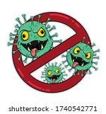 Stop Coronavirus Cartoon Green ...