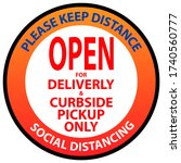 open for delivery and curbside... | Shutterstock .eps vector #1740560777
