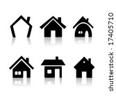 set of 6 house icon variations | Shutterstock .eps vector #17405710