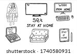 set of outline electronic...