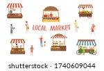 local market. food festival ...   Shutterstock .eps vector #1740609044