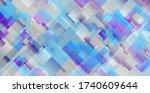grey blue violet squares... | Shutterstock .eps vector #1740609644