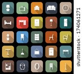 furniture flat icons with long... | Shutterstock .eps vector #174061271