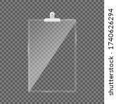 blank glass clipboard. acrylic... | Shutterstock .eps vector #1740626294