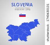detailed map of slovenia with...   Shutterstock .eps vector #1740630131