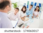 image of a business briefing... | Shutterstock . vector #174063017