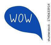 hand draw bubble talk phrases.... | Shutterstock .eps vector #1740633914