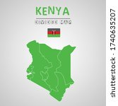 detailed map of kenya with...   Shutterstock .eps vector #1740635207