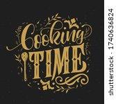 cooking time typography vector... | Shutterstock .eps vector #1740636824