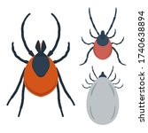 set of illustration of mite in... | Shutterstock .eps vector #1740638894