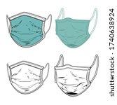 set of illustration of medical... | Shutterstock .eps vector #1740638924