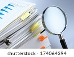 investigate and analyze.... | Shutterstock . vector #174064394