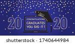 graduation festive traditional... | Shutterstock .eps vector #1740644984