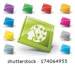 collection of different colored ... | Shutterstock .eps vector #174064955