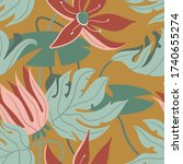tropical exotic floral...   Shutterstock .eps vector #1740655274