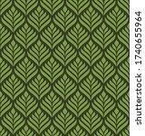 floral geometric seamless...   Shutterstock .eps vector #1740655964