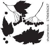 berries  black silhouette ...   Shutterstock .eps vector #1740656267
