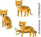 cute leopard  vector character...   Shutterstock .eps vector #1740656624