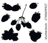 berries  black silhouette ...   Shutterstock .eps vector #1740659927
