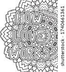 love inspirational coloring...   Shutterstock .eps vector #1740661361