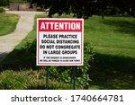 A Park Sign Warning Park Goers...