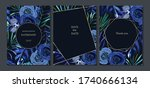 set of jungle cards with palm... | Shutterstock .eps vector #1740666134