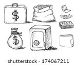 hand drawn business icons set.  ... | Shutterstock . vector #174067211