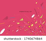 abstract colorful pattern... | Shutterstock .eps vector #1740674864