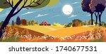 vector autumn landscape in...   Shutterstock .eps vector #1740677531