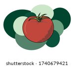 vector image of tomato amid...   Shutterstock .eps vector #1740679421