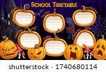 school timetable  weekly... | Shutterstock .eps vector #1740680114