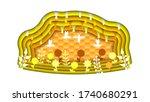 yellow orange abstract paper...   Shutterstock .eps vector #1740680291