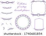 vector illustration collection... | Shutterstock .eps vector #1740681854