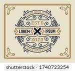 vintage logo or banner layout... | Shutterstock .eps vector #1740723254
