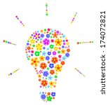 Idea Light Bulb Made Of Flower...