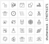 25 universal line icons for web ...