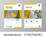 construction tools cover  back... | Shutterstock .eps vector #1740746291