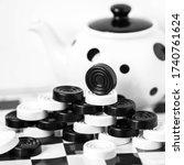 White Porcelain Teapot With...
