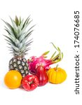 fruits on white background | Shutterstock . vector #174076685
